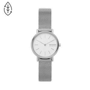 white ancher mesh ladies watches skagen dial watch