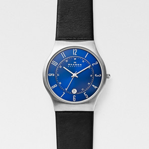 Grenen Titanium and Leather Watch