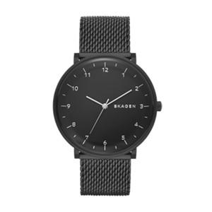 mens watch watches for men on skagen watch hald heavy gauge steel mesh watch