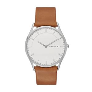 watch watches on skagen watch men s women s holst slim leather watch