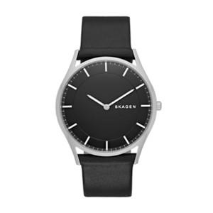 mens watch watches for men on skagen watch holst slim leather watch