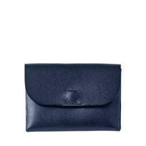 Skagen & Leather Projects Navy Wallet