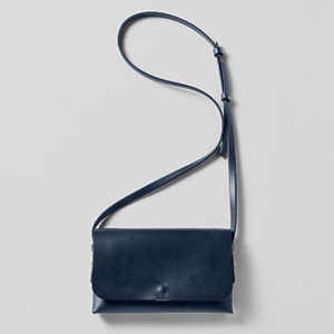 Skagen & Leather Projects Navy Clutch