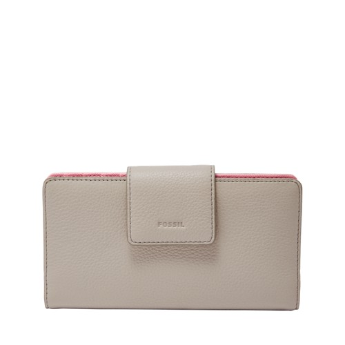 Fossil Emma Rfid Tab Clutch Sl7154055 Color: Mineral Gray Wallet
