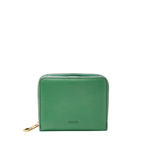 Fossil Emma Rfid Mini Multifunction Sl7323342 Color: Spring Green Wallet