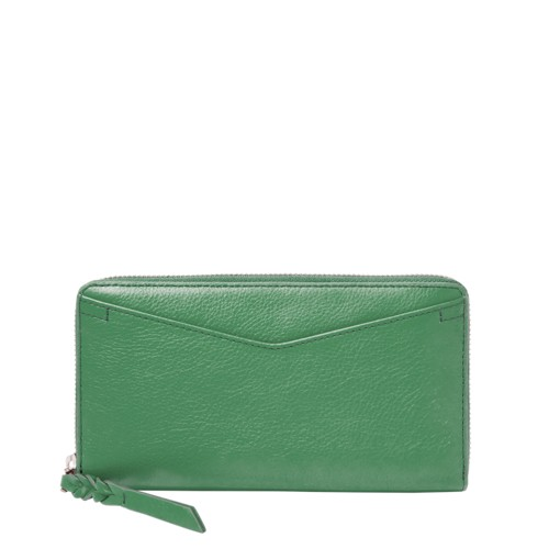 Fossil Caroline Rfid Zip Around Wallet Sl7354342 Color: Spring Green Wallet