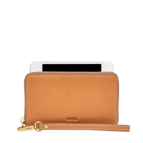 Fossil Emma Rfid Smartphone Wristlet Sl7443694 Color: Hot Pink Wallet