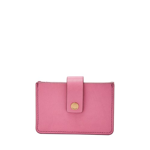 Fossil Mini Tab Wallet Sl7455671 Color: Wild Rose Wallet