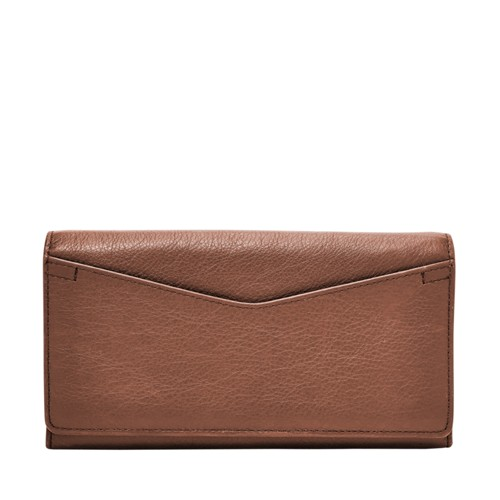 Fossil Caroline Rfid Continental Flap Wallet Sl7554200 Color: Brown Wallet