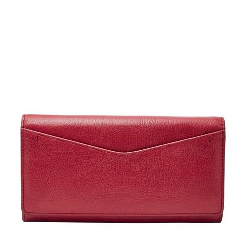 Fossil Carolinerfid Continental Flap Wallet Sl7627627 Color: Red Velvet Wallet