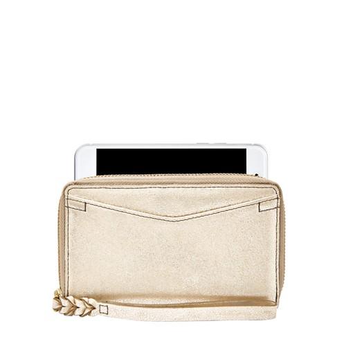 Fossil Caroline Rfid Smartphone Zip Around Wallet Sl7629751 Wallet