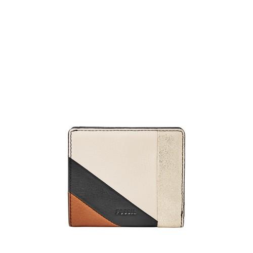 Fossil Emma Rfid Mini Wallet Sl7644558 Color: Neutral Stripe Wallet
