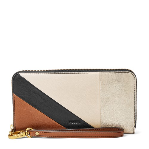 Fossil Emma Rfid Large Zip Clutch Sl7646558 Wallet