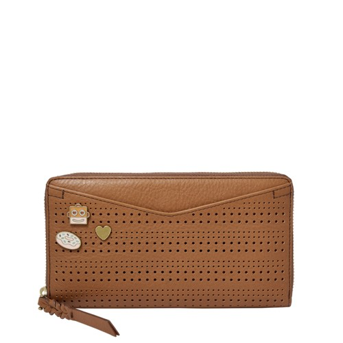 Fossil Caroline RFID Zip Around Wallet SL7664216