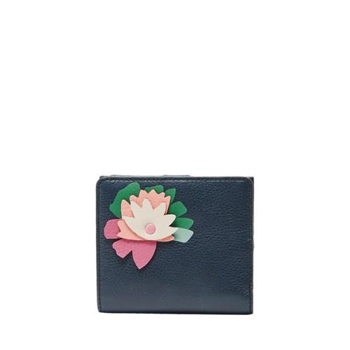 Fossil Caroline Rfid Mini Wallet Sl7665406 Color: Midnight Navy Wallet
