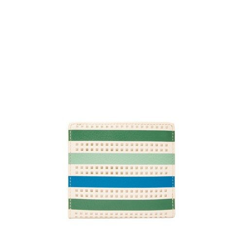 Fossil Caroline Rfid Mini Wallet Sl7667373 Color: Green Stripe Wallet