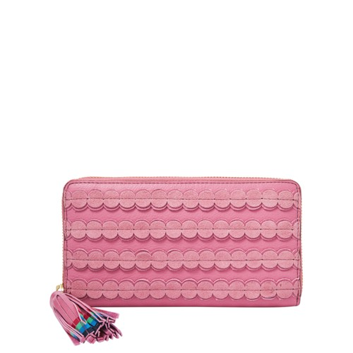 Fossil Caroline Rfid Zip Around Wallet Sl7669671 Color: Wild Rose Wallet