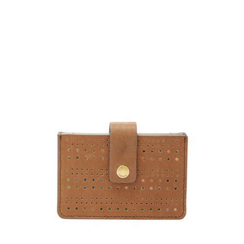 Fossil Mini Tab Wallet Sl7675216 Color: Saddle Wallet