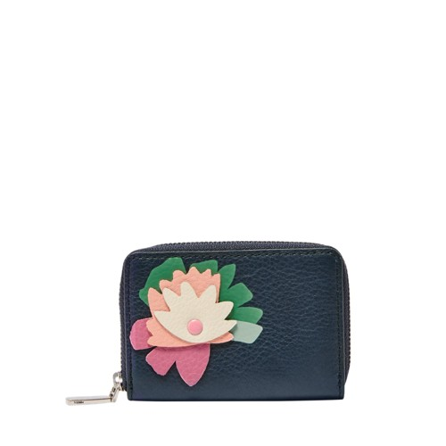 Fossil Rfid Mini Zip Card Case Sl7676406 Wallet