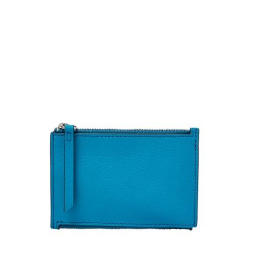 Fossil Mini Double Zip Wallet Sl7678977 Color: Cerulean Wallet