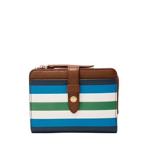 Fossil Fiona Multifunction Sl7682566 Color: Blue Stripe Wallet