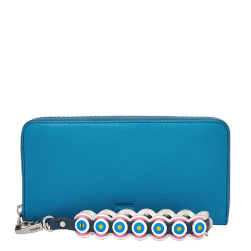 Fossil Emma Rfid Large Zip Clutch Sl7686977 Wallet
