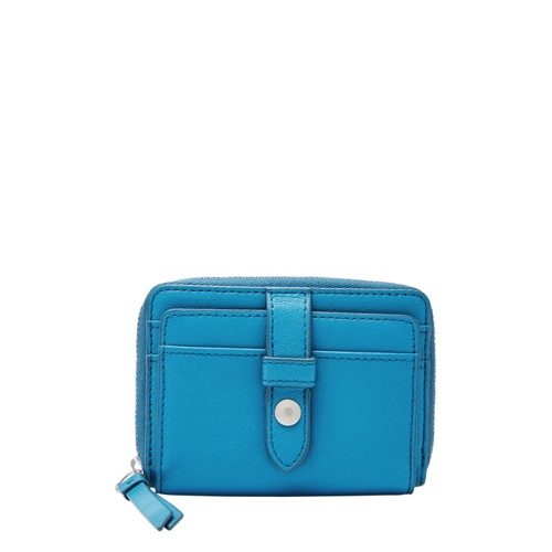 Fossil Fiona Zip Coin Sl7702977 Color: Cerulean Wallet