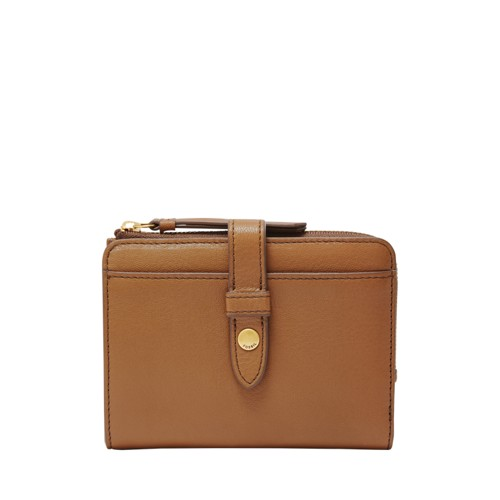 Fossil Fiona Multifunction Sl7703216 Color: Saddle Wallet