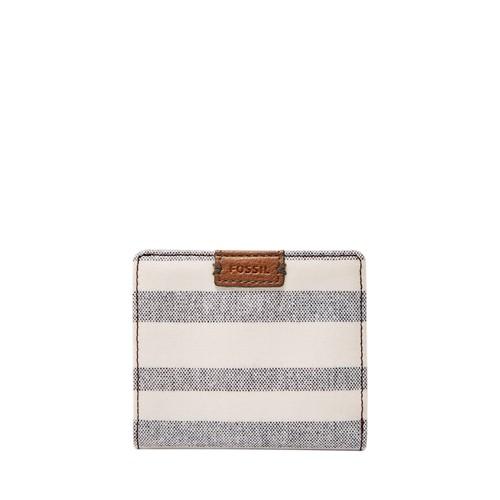 Fossil Emma Rfid Mini Wallet Sl7706566 Color: Blue Stripe Wallet