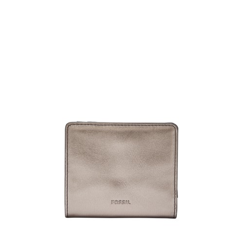 Fossil Emma Rfid Mini Wallet Sl7745044 Color: Pewter Wallet