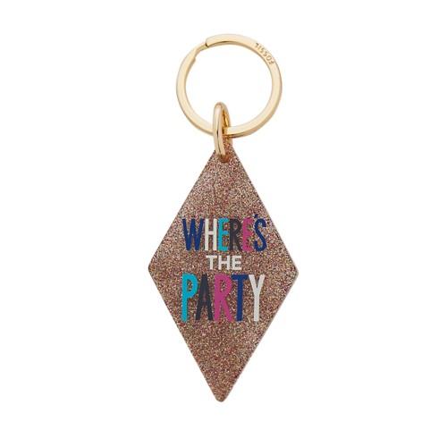 Fossil Motel Key Acrylic Glitter Keyfob SLG1224998
