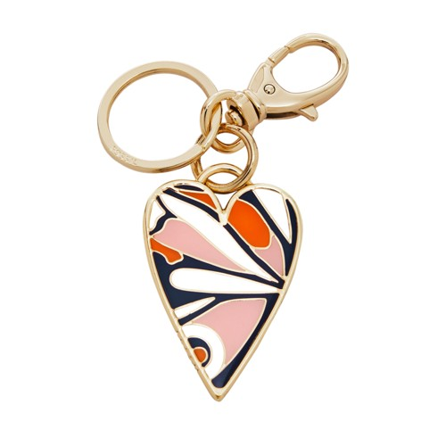 Fossil Heart Keyfob  Accessories Multi