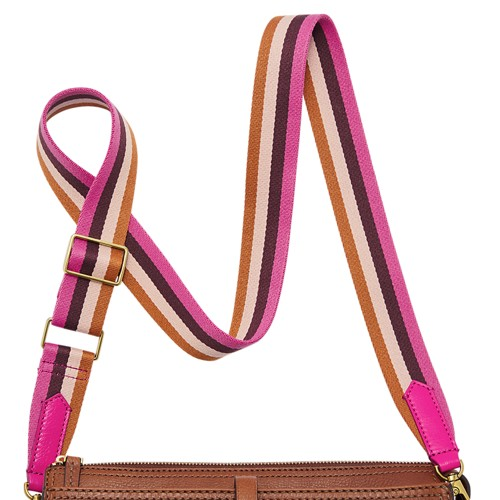 Fossil Crossbody Strap  Accessories Fuchsia