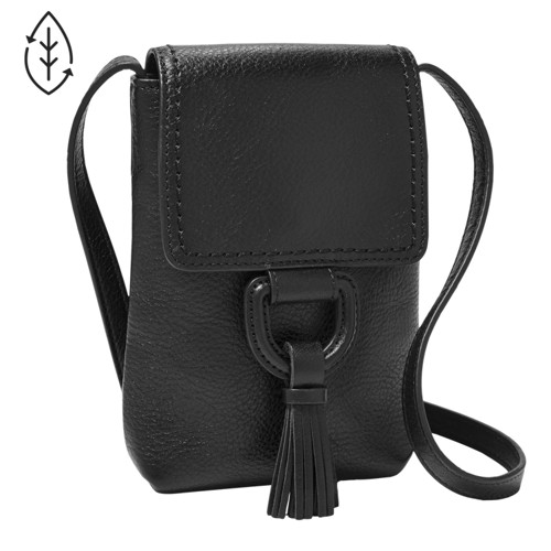 Fossil Bobbie Phone Crossbody  Accessories Black