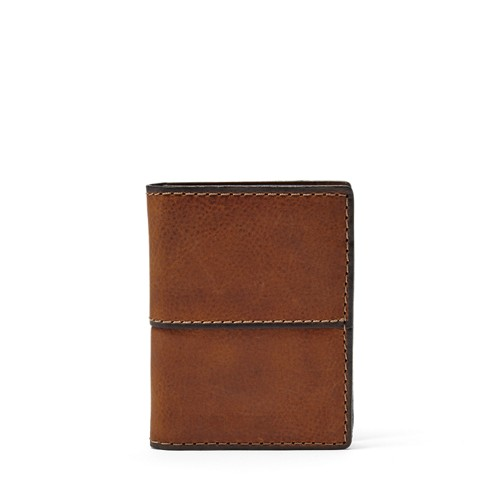 Fossil Ethan Card Case Sml1069210 Color: Medium Brown Wallet