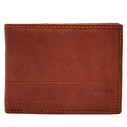 Fossil Lufkin International Traveler Sml1391210 Color: Medium Brown Wallet
