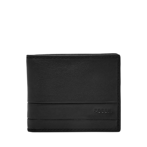 Fossil Lufkin Bifold Sml1392001 Color: Black Wallet