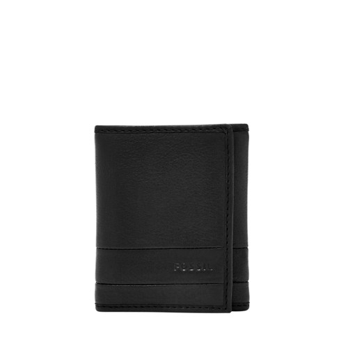 Fossil Lufkin Trifold Sml1395001 Color: Black Wallet