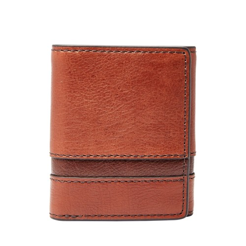 Fossil Easton Rfid Trifold Sml1436914 Color: Brown Multi Wallet