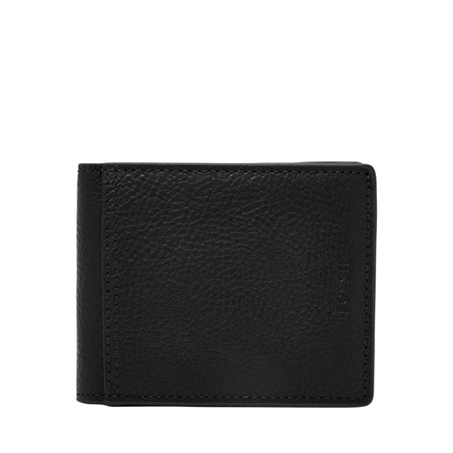 Fossil Tyler Rfid Traveler Sml1501001 Color: Black Wallet