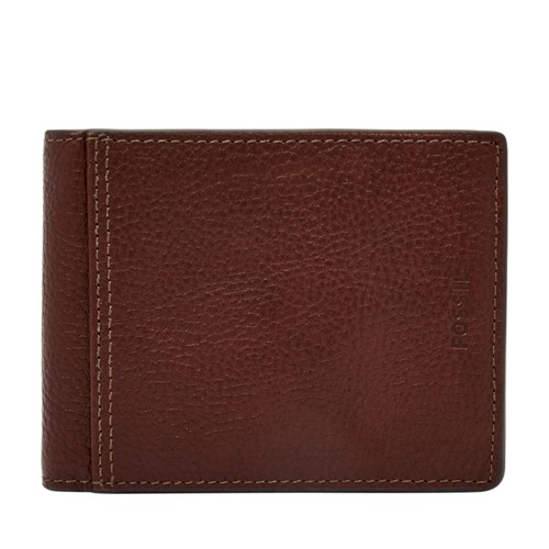 Fossil Tyler Rfid International Traveler Sml1502200 Color: Brown Wallet