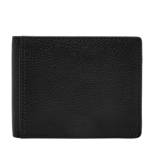 Fossil Tyler Rfid International Bifold Sml1504001 Color: Black Wallet