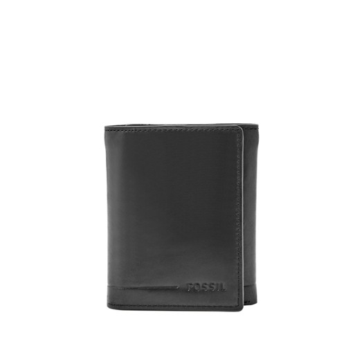 Fossil Allen Rfid Trifold Sml1550001 Color: Black Wallet