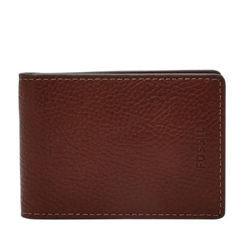 Fossil Tyler Rfid Front Pocket Wallet Sml1561001 Color: Black Wallet
