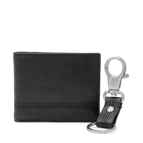 Fossil Kyle Rfid Traveler And Keyfob Gift Set Sml1566001 Wallet