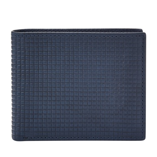 Fossil Hitch Rfid Traveler Sml1632400 Color: Navy Wallet