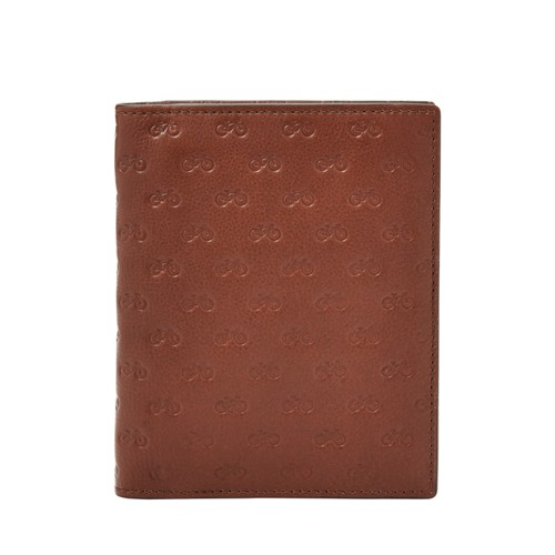 Fossil Eddy Rfid Passport Case Sml1636210 Color: Medium Brown Wallet