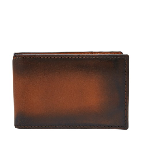 Fossil Hayward RFID Money Clip Front Pocket Wallet SML1663212