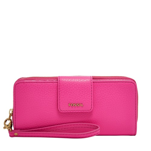 Fossil Madison Zip Clutch Swl1575694 Color: Hot Pink Wallet