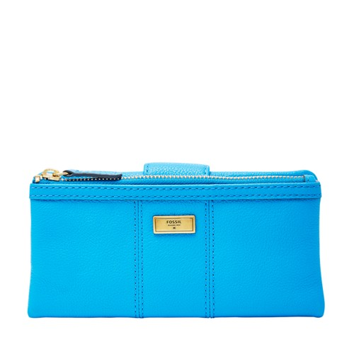 Fossil Ella Clutch Swl1638977 Color: Cerulean Wallet